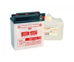 BS Bateria 6N11A-1B S/Mant 6v11.6Ah 80A 122x62x131+ 14840