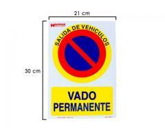 ADHESIVO VADO PERMANENTE 30X21cm GARAJE ENTRADA