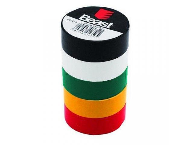 5 x Rollos Cinta Adhesiva Aislante Colores Insulating Tape 19mm/10m