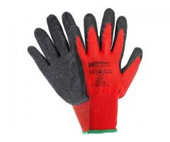 Guantes Recoleccion Transpirables Latex/Nylon Gripflex 8-9-10""