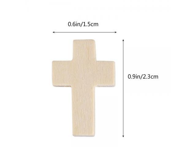Cruz 23x15mm Madera Cross Santa Cruz Colgante Simbolo