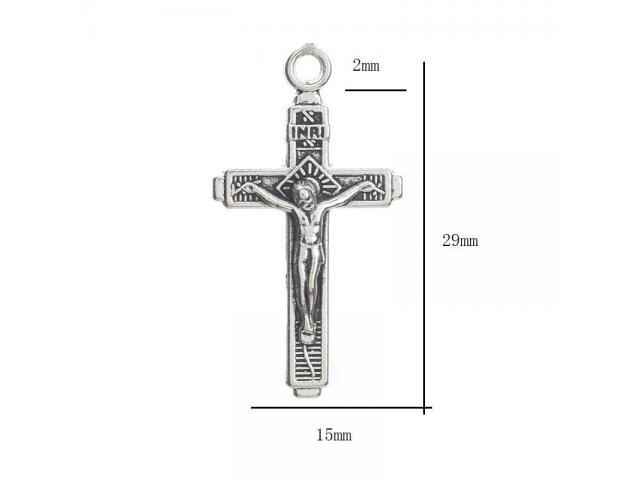 Cruz 29x15mm Metal/Grabado Cross Santa Cruz Colgante Simbolo