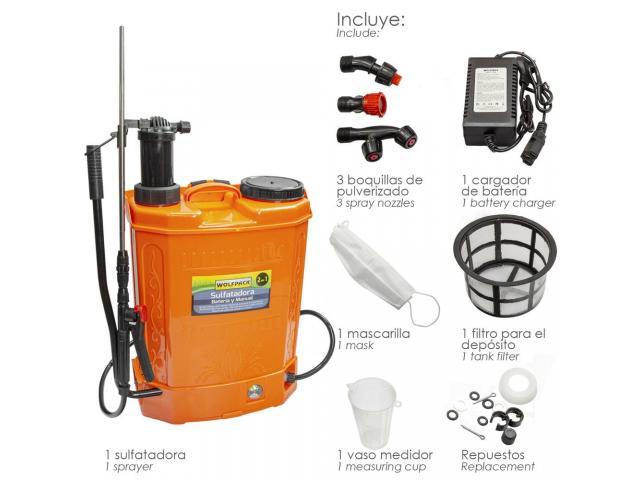 Pulverizador Sulfatador ELECTRICO 16L Desinfectar Virus/Bacteria
