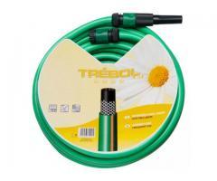"""Manguera Verde Trenzado 15mm - 5/8"""" Rollo 25mtr C/Accesorios"""